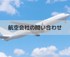 航空会社の問い合わせ(飛行機)